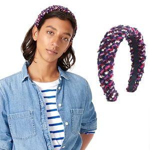 J. Crew Confetti Tweed Wide Wool Headband NEW